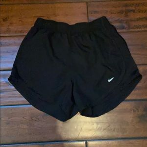 All black Women's Nike running shorts size XS